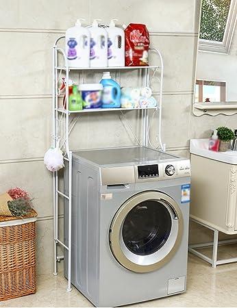 Lavadora Estantes Cuarto de baño Rack de almacenamiento simple ...
