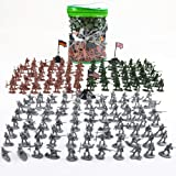 A-PIE Army Toys Soldiers Battle Group Army Men Play Bucket - 300 Piece Military Soldier Playset