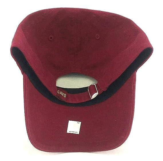19d6d350 Amazon.com : Cleveland Cavaliers Cavs New Logo Era 9Twenty Dad Adjustable  Red Wine Strapback Hat Cap : Sports & Outdoors