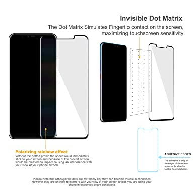 Amazon.com: VMAX MORE THAN YOU SEE Screen Protector for Huawei Mate 20 pro 3D Case Friendly Design Full Cover Anti-Fingerprints Scratch Resistance Bubble ...