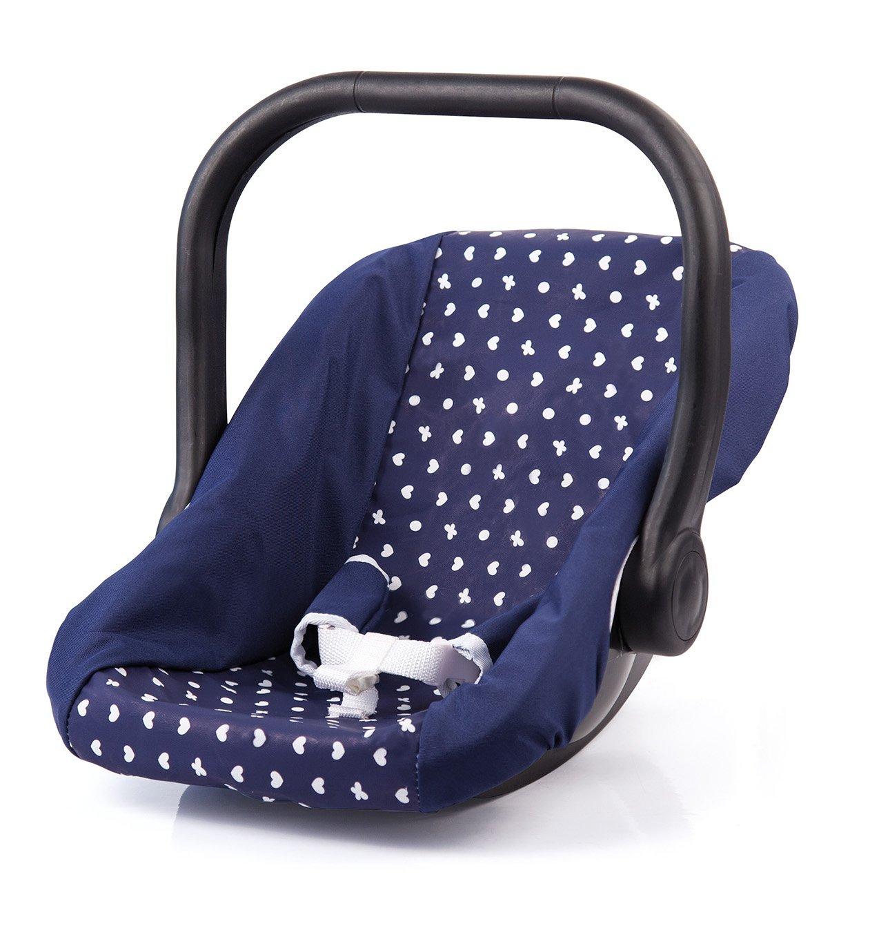 35cm Bayer Design Blue Patterned Dolls Car Seat 7785100