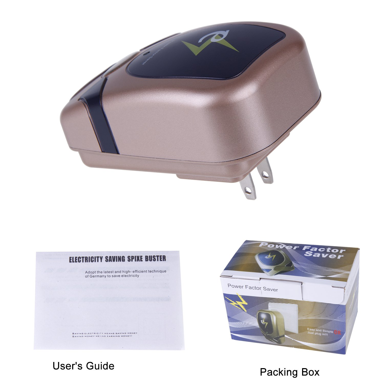 Electricity Saving Box Power Energy Saver By Amebay, Energy Power Saver 28KW AC90-250v Gold Up to 20%-35%(US Plug) by Amebay (Image #7)