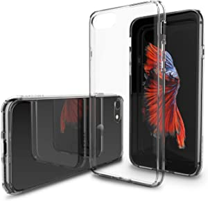 iPhone 8 Case, LUVVITT [Clearview] Hybrid Scratch Resistant Back Cover with Shock Absorbing Bumper for Apple iPhone 8 (2017) - Crystal Clear