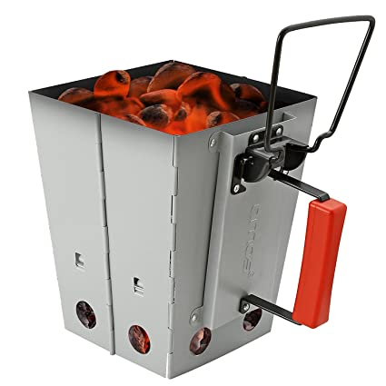 Amazon.com: AMOS para barbacoa plegable plegable Chimney ...