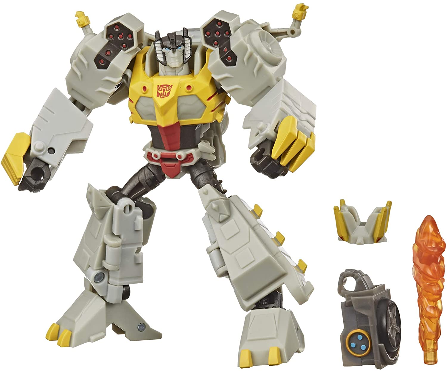 Transformers Bumblebee Cyberverse Adventures Deluxe Class Grimlock Action Figure Toy, Build A Figure Part, For Ages 6 and Up, 5 inch