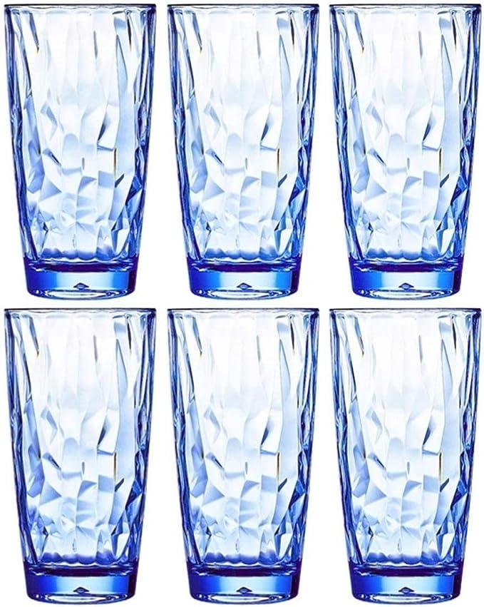 Drinkware glass set of 6- Color: Purple Capacity 6 ounce Love Juice glass