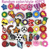 Trasfit 40 Pieces Shoes Charms for Crocs & Jibbitz Shoes Wristband Bracelet Party Supplies Fun and Exciting Decorations