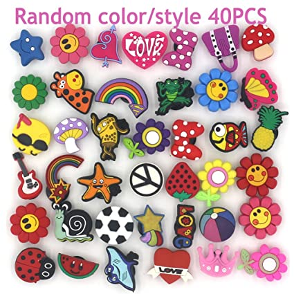 480803b99dd0c Amazon.com  Trasfit 40 Pieces Shoes Charms for Crocs   Jibbitz Shoes ...
