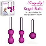 Kegel Exercise Weights Kit Ben Wa Balls - Doctor Recommended for Bladder Control Device Pelvic Floor Exercise - Kegel Ball Exercise Kit for Women and Post-Pregnancy Recover(3-Piece Set)