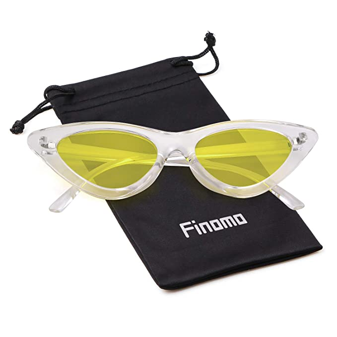 Finomo Gafas de sol ojo de gato Gafas Clout Vintage Mod Kurt Cobain UV400 Gafas para niñas mujeres