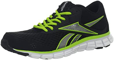 new style a95fd 9ed40 Reebok Men s Smooth Flex Ride 3.0 Running Shoe,Black Sonic Green Pure Silver