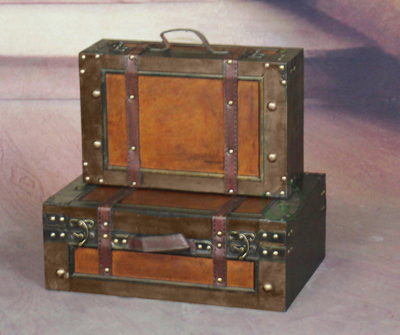 Old Suitcases Amazoncom Vintiquewisetm Old Style Suitcase Decorative Box