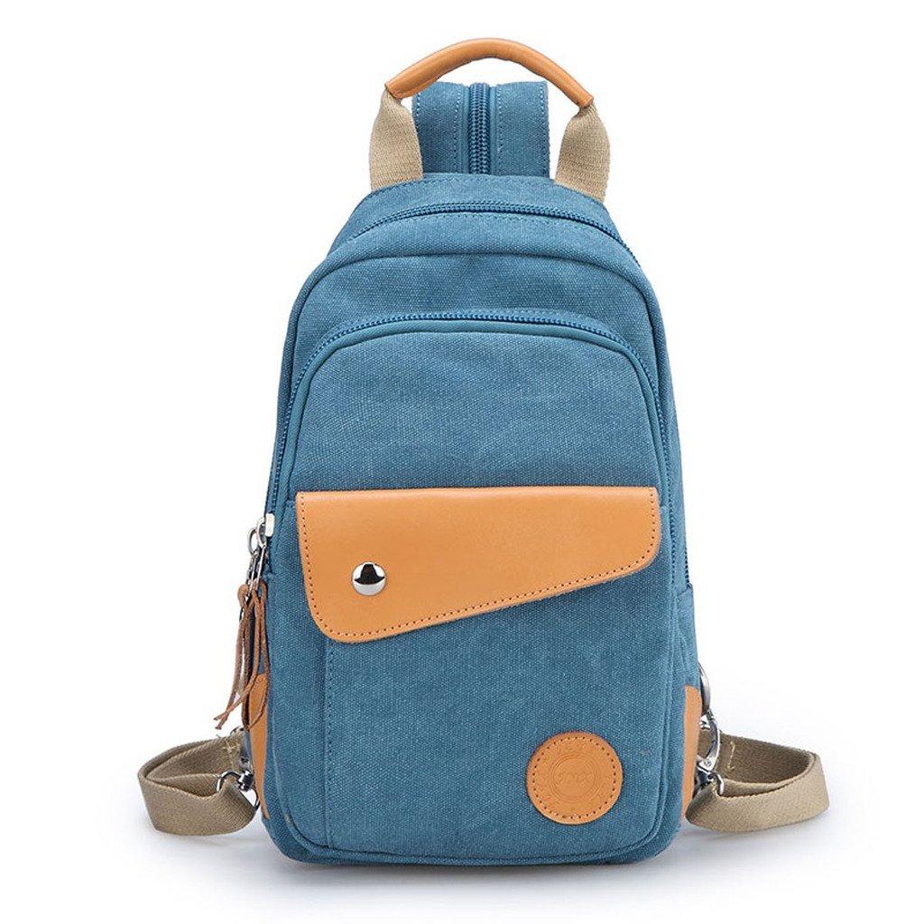 xycjレディースキャンバスSamllのバックパックの女の子の旅行リュックサック B00W28AB9I ブルー