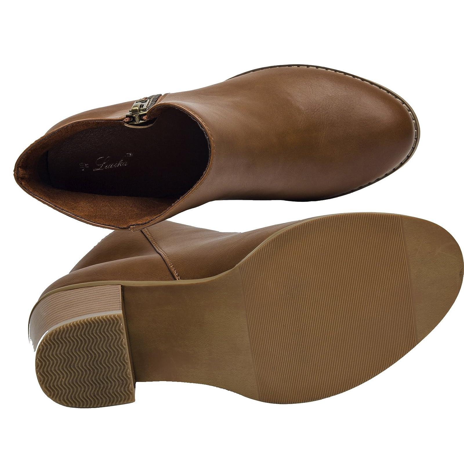 Luoika Plus Size Wide Width Ankle BootsWomen - 3