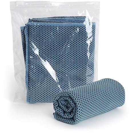 CampTeck U6874 Toalla Microfibra (30 cm x 100 cm) Ice Towel Refrescante con Funda