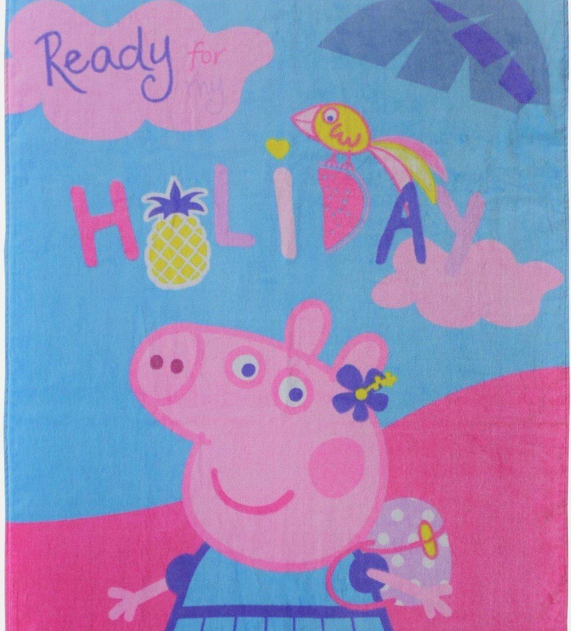 Peppa Pig Toalla De Playa · Peppa Pig Holiday Toalla · Rosa, Azul · 70 x 120 cm · 100% algodón: Amazon.es: Hogar