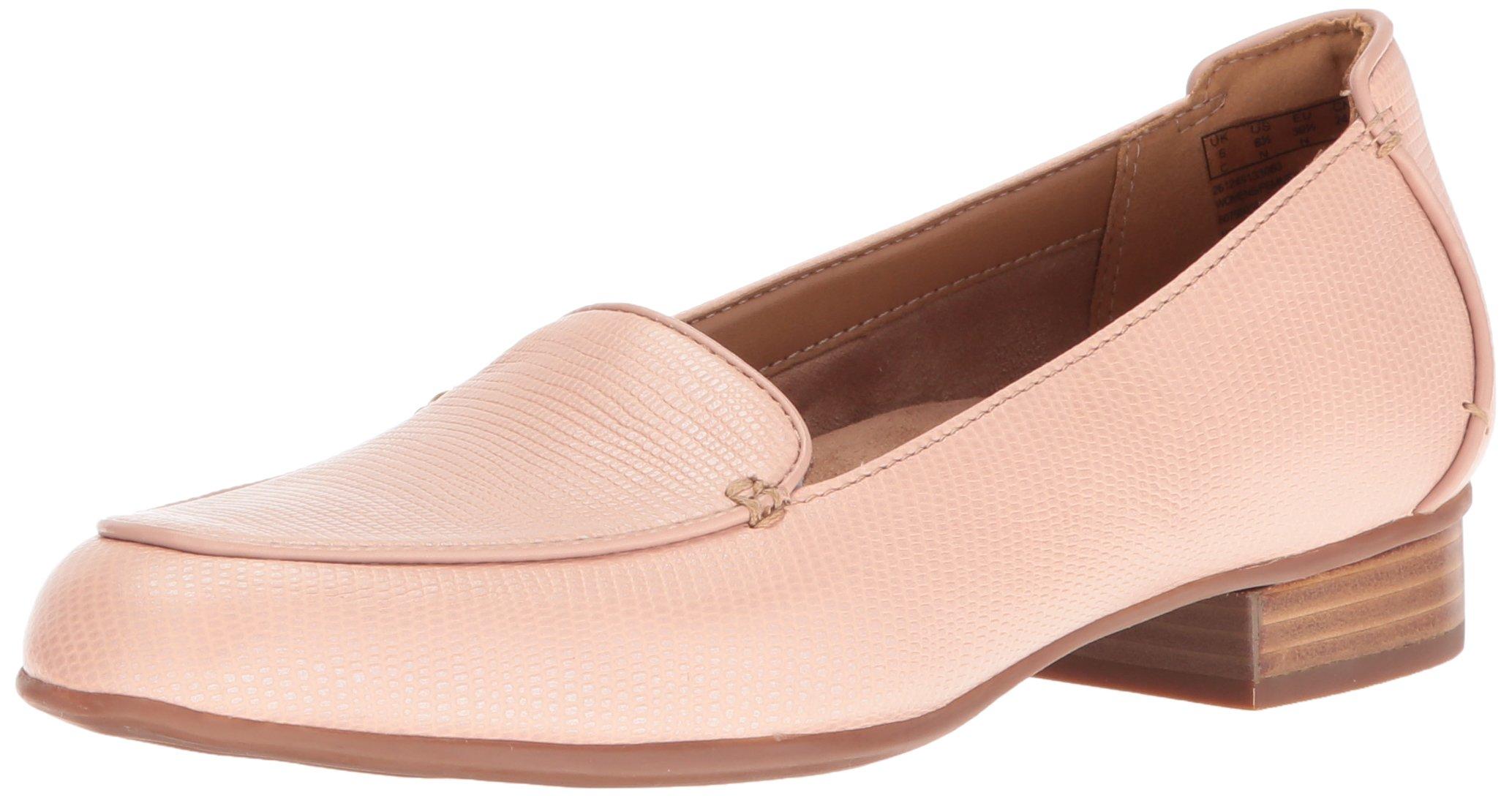 Clarks Women's Keesha Luca Slip-on Loafer, Dusty Pink Leather, 8.5 W US