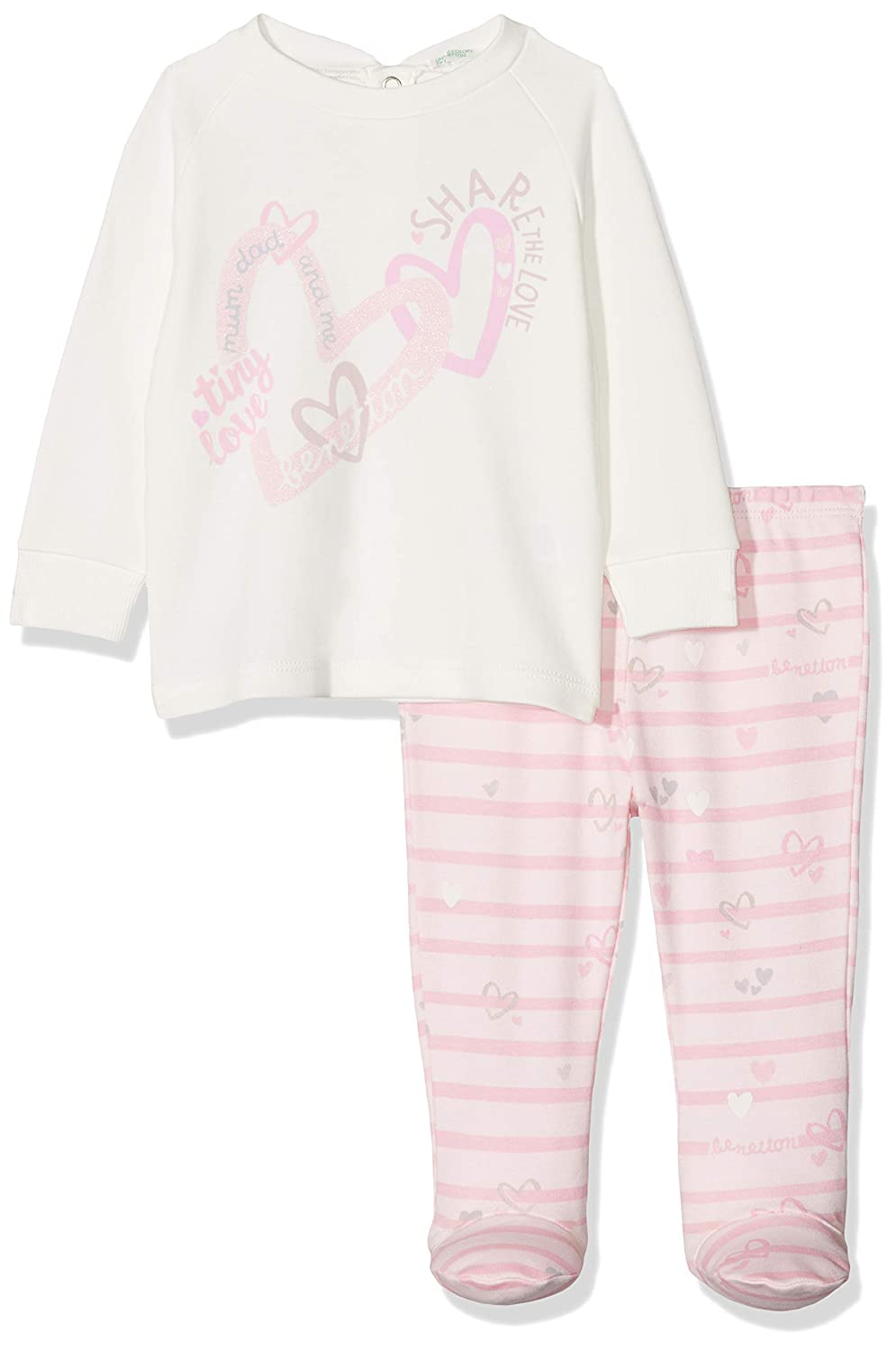 United Colors of Benetton Baby Girl (Sweater+Trousers) Pyjama Set 3793MP012