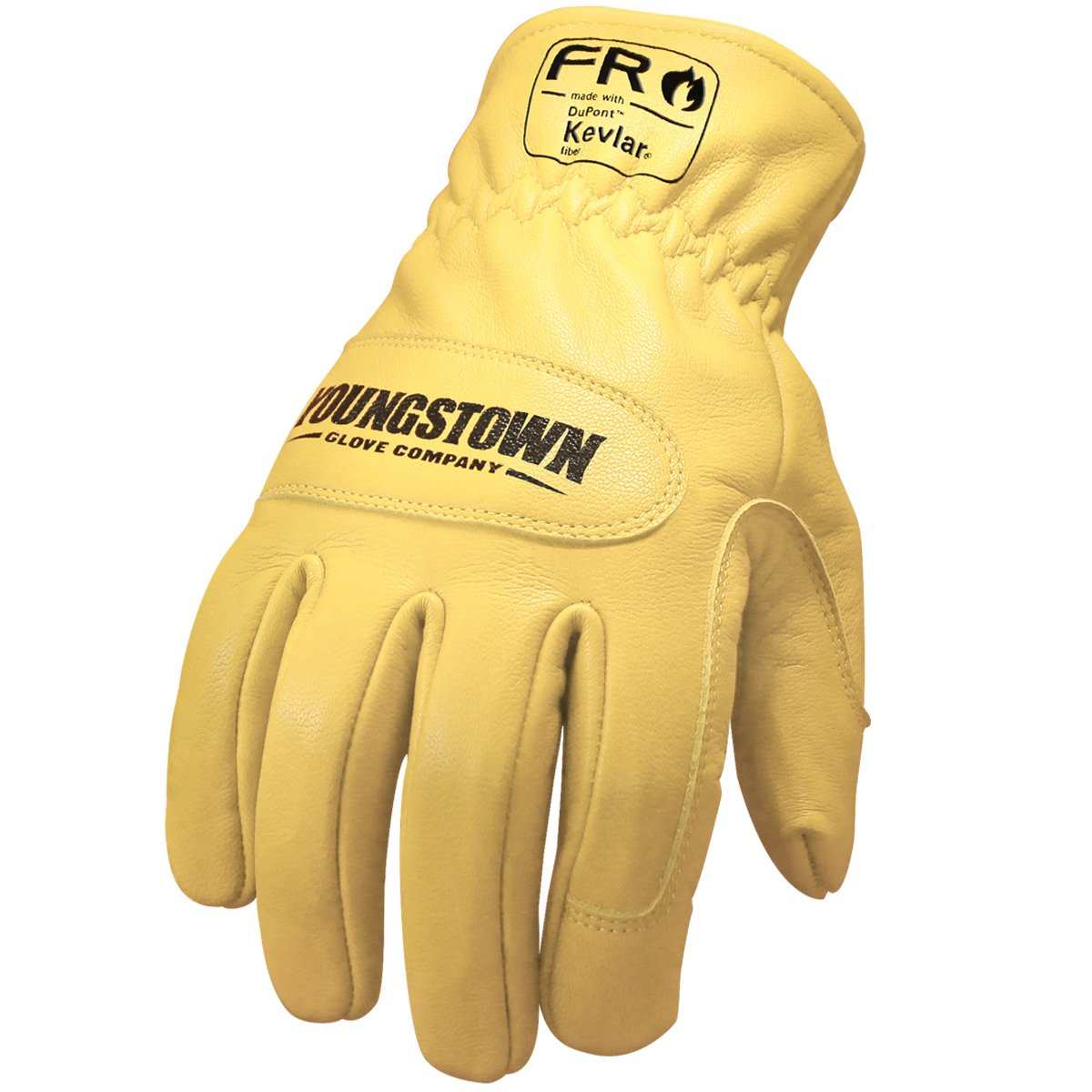 Youngstown Glove 12-3365-60-XL FR Ground Glove Lined w/ Kevlar Performance Work Gloves, Extra-Large, Tan