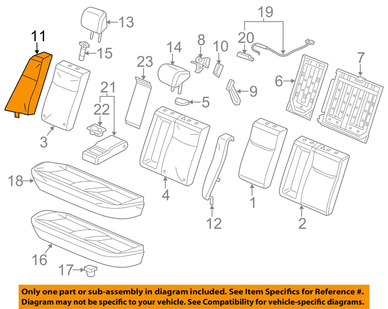 Honda Genuine 82150-TR3-L21ZB Seat Back Assembly