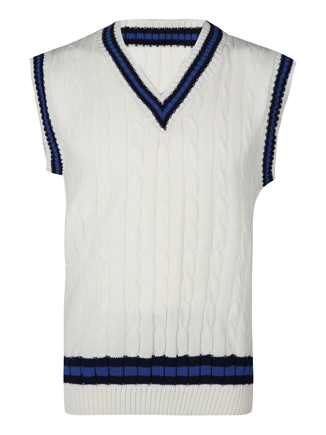 1920s Style Mens Vests Cricket Cable Knitted Tank Top Boys Sleeveless V Neck Ribbed Top S M L XL $18.99 AT vintagedancer.com