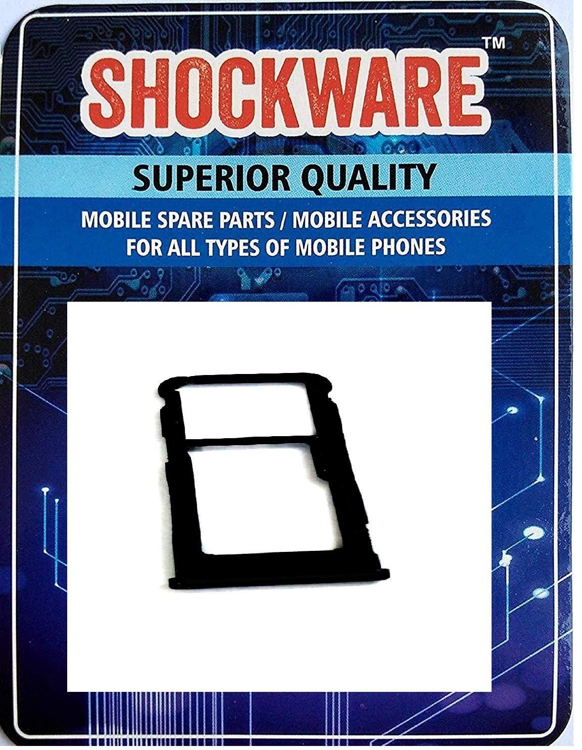 SHOCKWARE SIM Tray Card Slot Holder for Nokia 6 1 Plus (Black)