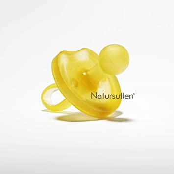 Natursutten BPA-Free Natural Rubber Pacifier LARGE 12 months Up Rounded Nipple