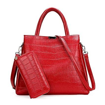Canyixiu Ladies Handbag Ladies Handbag Leather Shoulder Bag Shoulder Bags Messenger Tote Bags Color : Black, Size : M