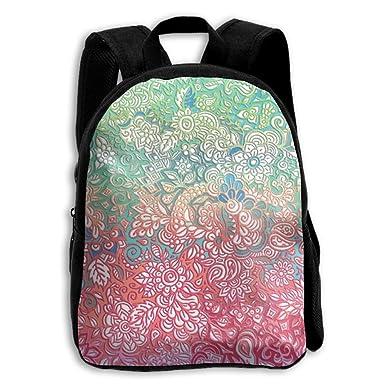 Amazon.com   Kids Shoulder Backpack Rainbow Lace Adjustable Printed ... ec9025de31