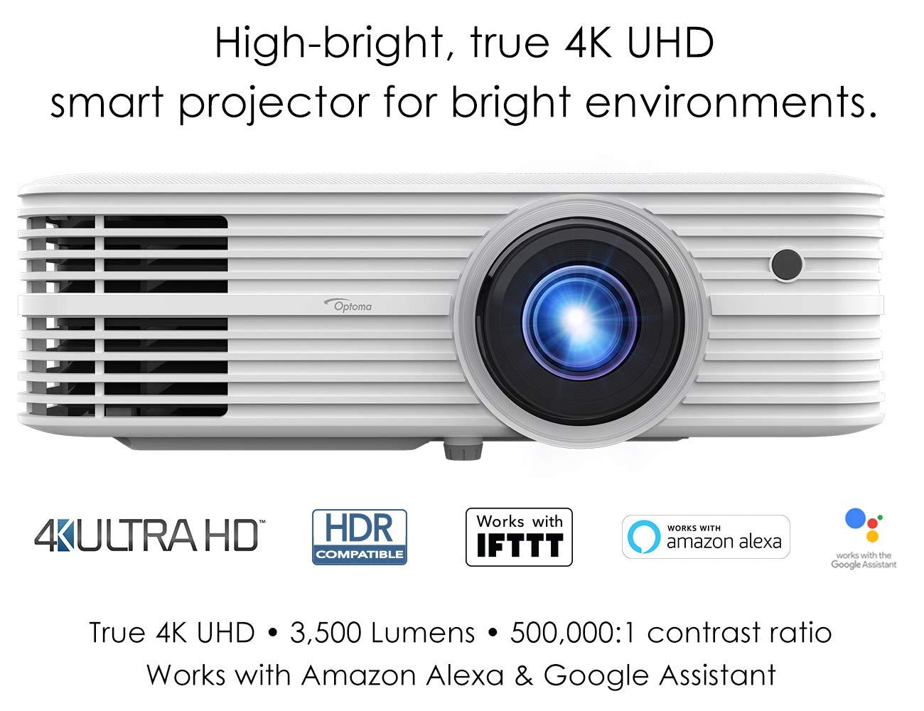 Optoma 4K UHD Smart Home Theater Proyector, Funciona con Amazon ...