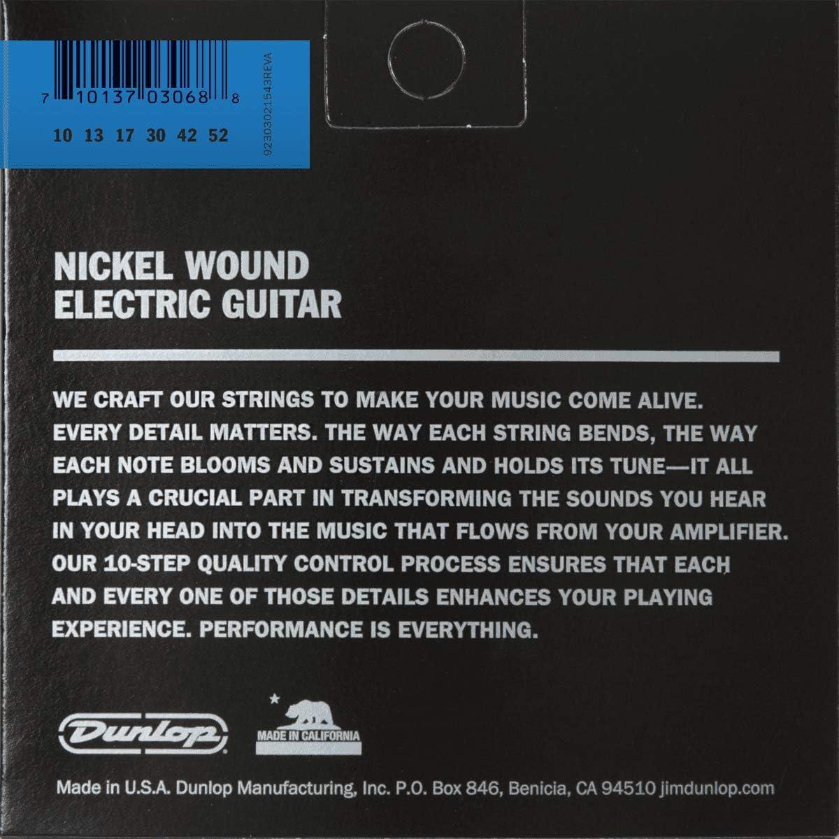 Dunlop DEN1052 10-Corde Light per chitarra elettrica in nichel 10-52