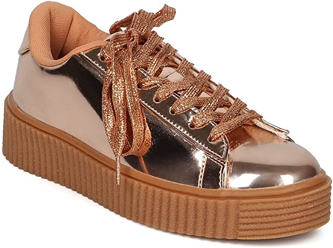 Alrisco Women Round Toe Lace Up