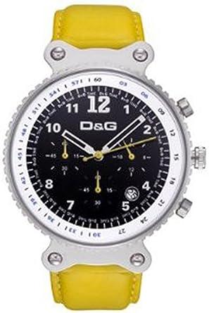 3b99d2d3a0a Dolce Gabbana - DW0307 - Montre Homme - Quartz - Chronographe - Bracelet  Cuir Jaune