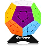 Megaminx 3x3 Speed Cube Puzzle Hand Fidget Toy Stickerless Professor Master Kilominx Gigaminx 12Colors Dodecahedron Cube Toy Games Holiday Christmas Present Gift for Kids