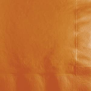 500-Count Case Touch of Color 3-Ply Paper Beverage Napkins, Pumpkin Spice