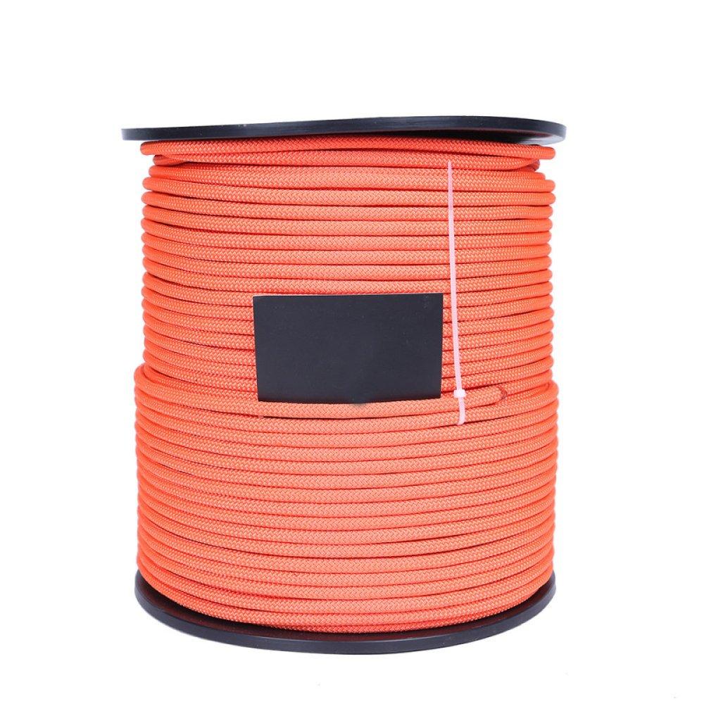 Orange WuJiPeng Corde D'aventure en Plein Air 6mm De Diamètre (10 Mètres 32 Pieds) (20 Mètres) 64 Pieds (30 Mètres) 94 Pieds (40 Mètres) 131ft Corde d'escalade Force De Traction Maximum De Sécurité 700kg 30