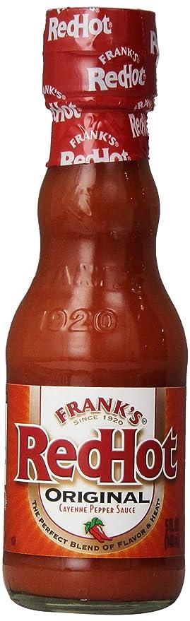 Frank's RedHot Original Cayenne Pepper Hot Sauce (American Hot Sauce, Gluten Free), 5 fl oz