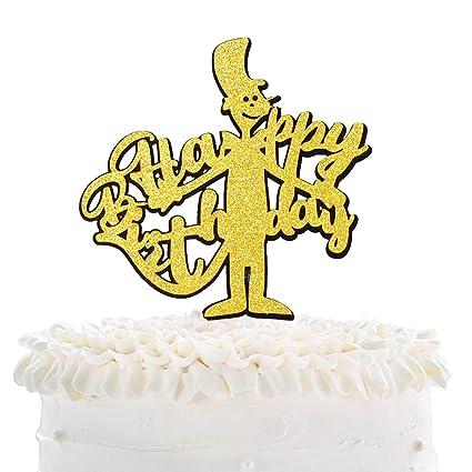 Phenomenal Cartoon Dr Seuss Happy Birthaday Cake Topper Celebrate Baby Personalised Birthday Cards Epsylily Jamesorg