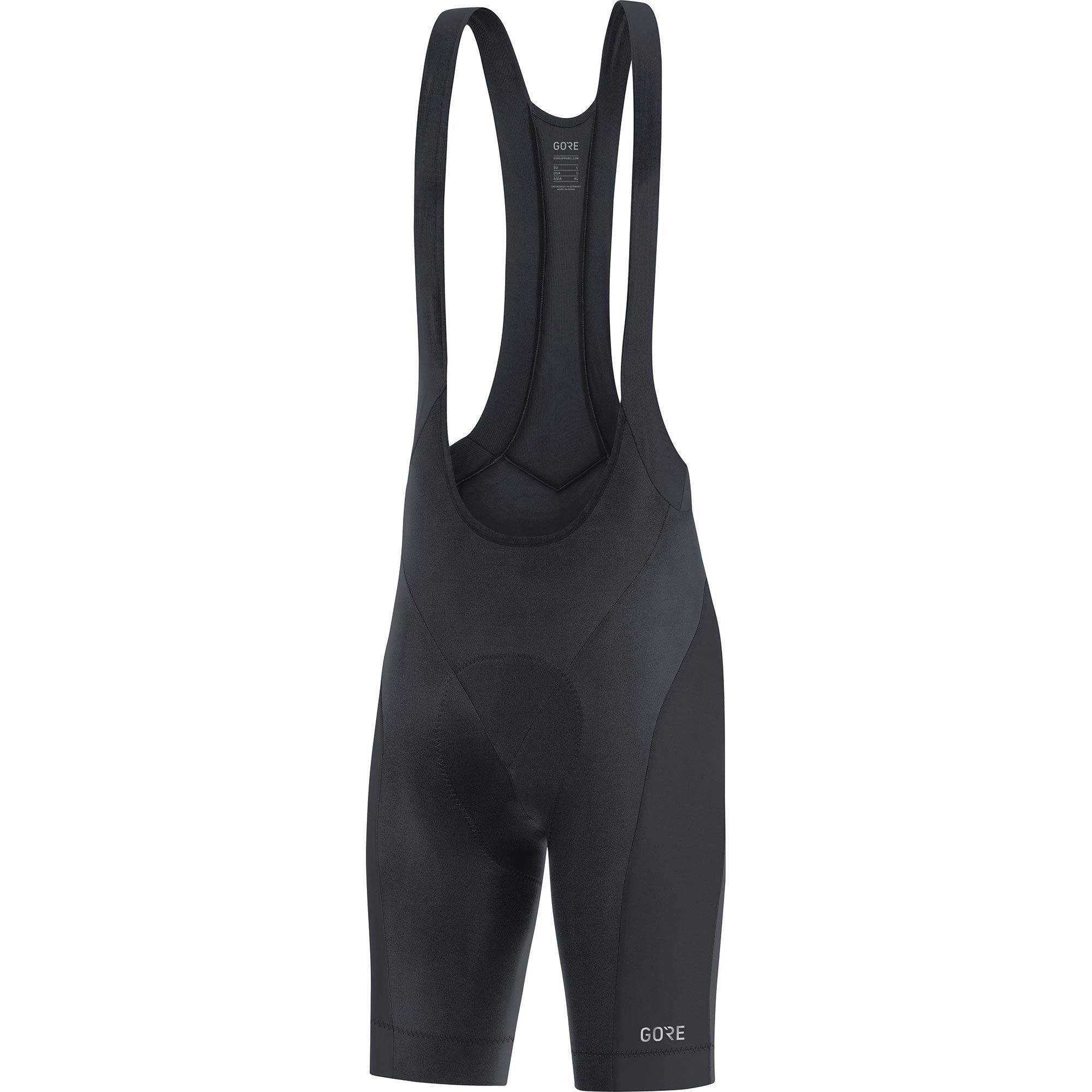 GORE Wear C3 Men's Short Cycling Bib Shorts With Seat Insert, S, Black