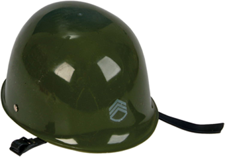 Green Camouflage Plastic Army Helmet