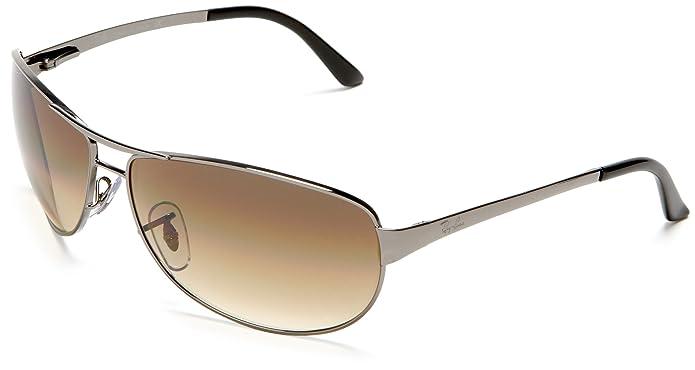 22a6c920cf Amazon.com  Ray-Ban WARRIOR - GUNMETAL Frame CRYSTAL BROWN GRADIENT Lenses  60mm Non-Polarized  Ray-Ban  Clothing