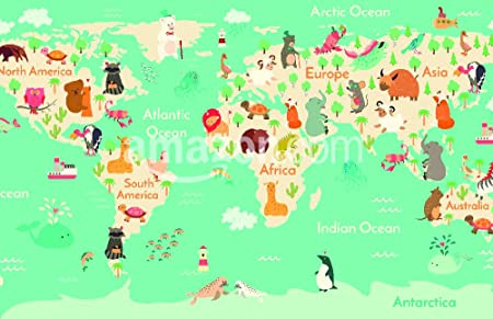 Animals world map for children kids animals poster continent animals world map for children kids animals poster continent animals sea life gumiabroncs Choice Image