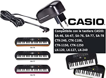 Casio fuente para teclado Casio serie SA/CTK/LK: Amazon.es: Instrumentos musicales