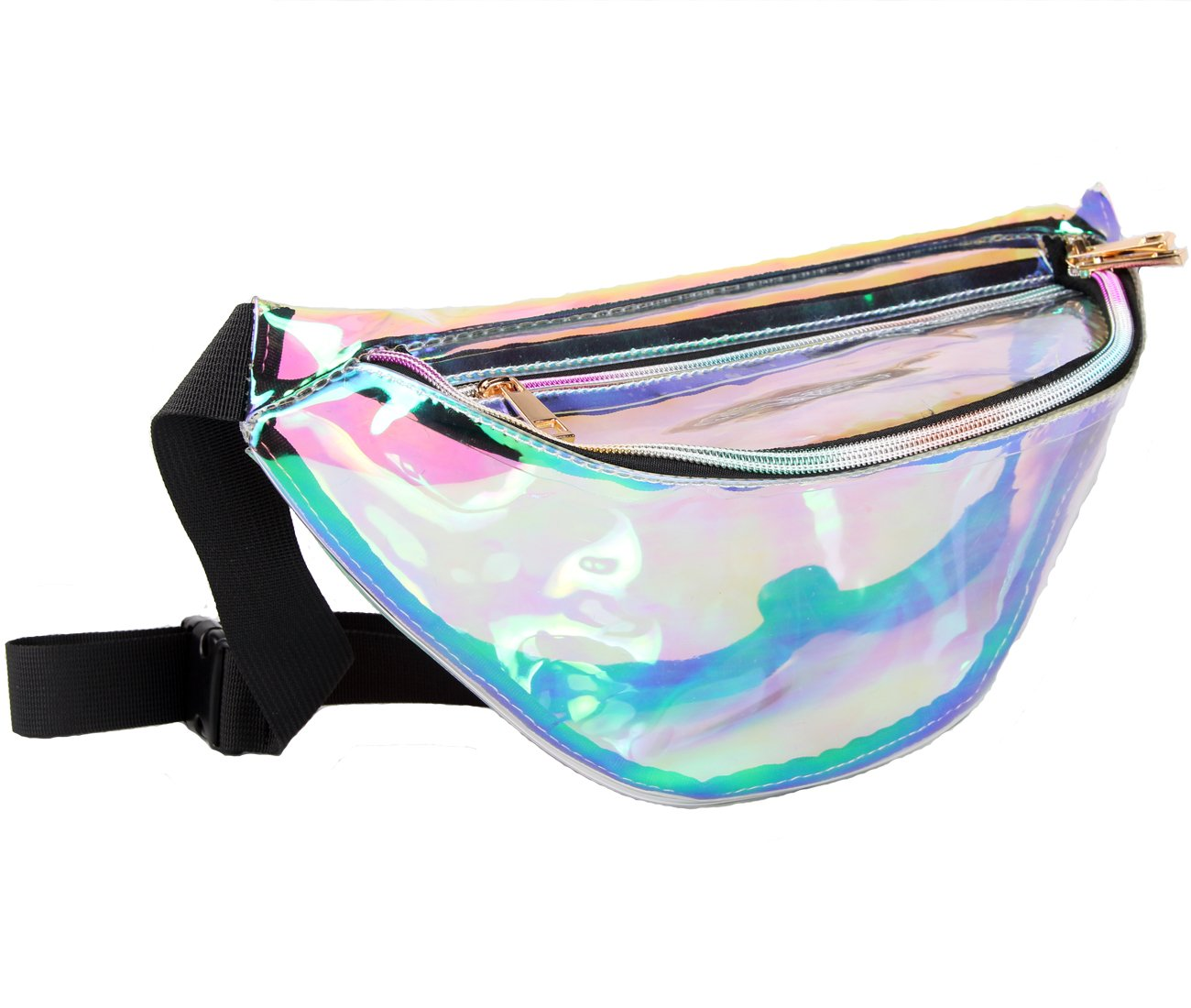 836d9dfefbaa Lorencia Fanny Pack for Women Holographic Fanny Pack Iridescent Cute Waist  Belt Bum Bag Fashion for Rave Festival Events Games