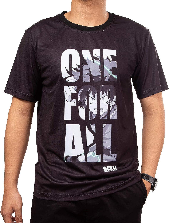 One for All,Deku, My Hero Academia Camiseta de anime para cosplay o personalizado, camisa de anime negra