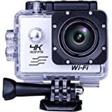 South Star Digital Sports Camera Video 4K WIFI Action Cam Underwater DV Camcorder HD 1080P 16MP 170 degree Wide-Angle (sliver)