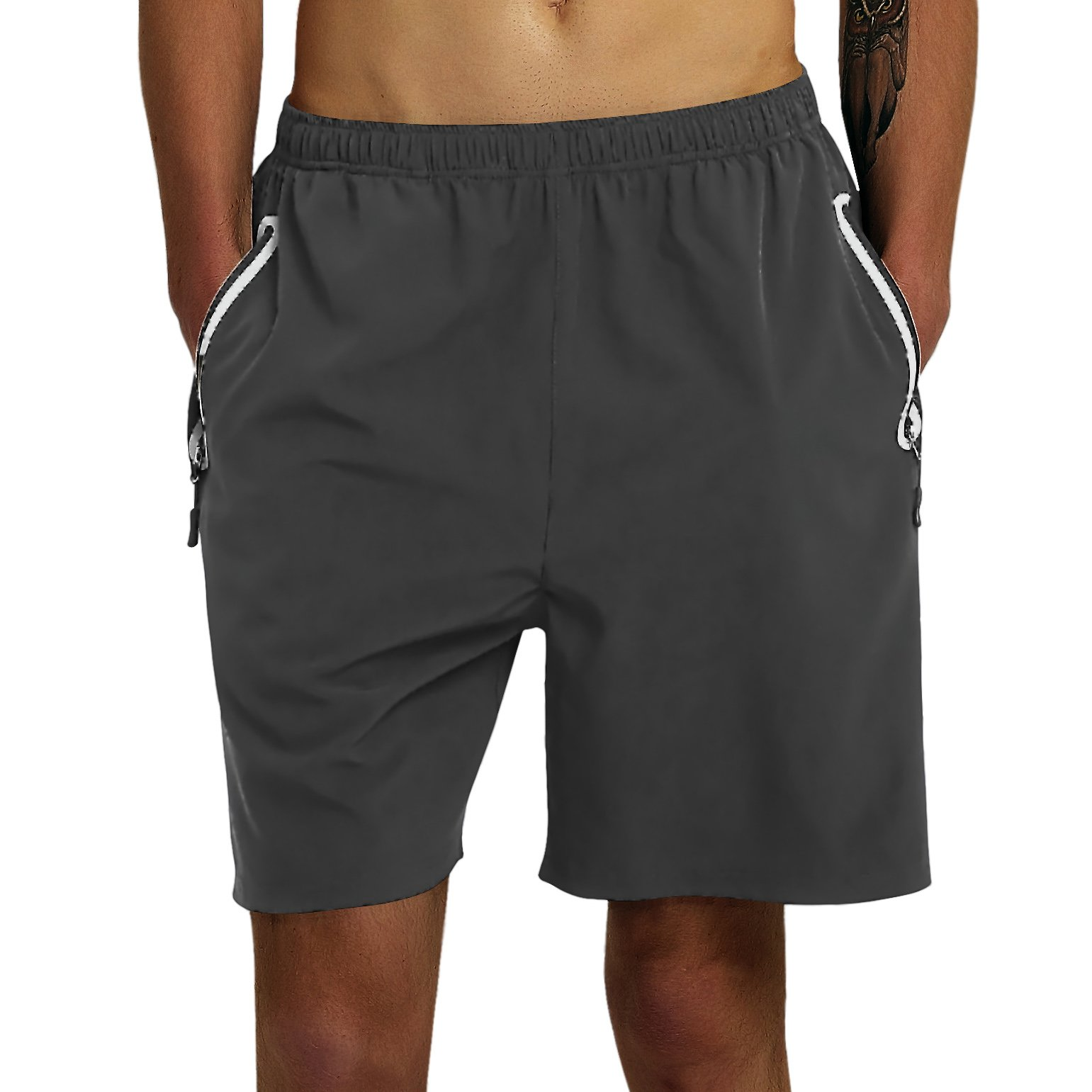 Gititlys Running Workout Shorts with Zipper Pockets Quick Dry Lightweight