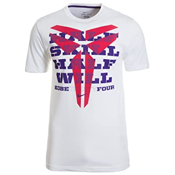 Nike Men's Kobe Half Will Half Skill T Shirt XX Large White Court Purple