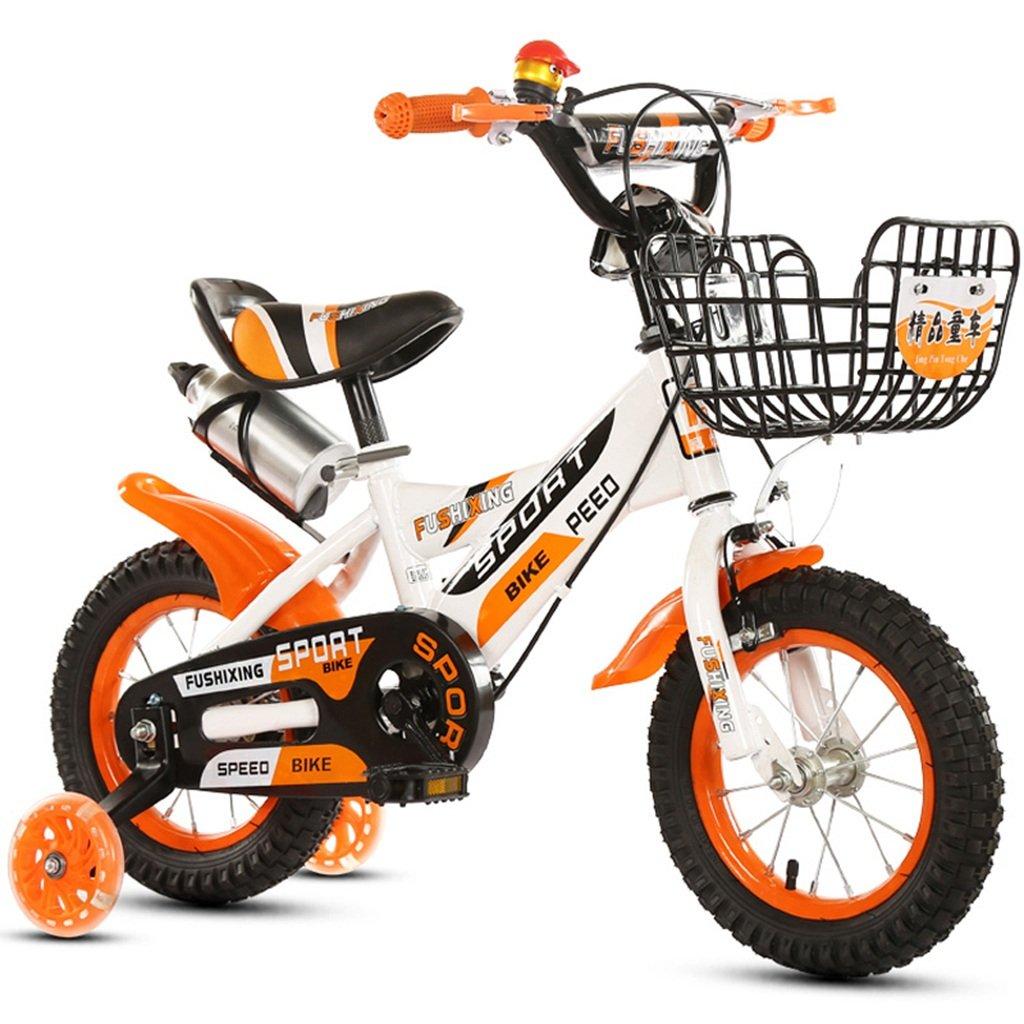 ベビー自転車、カップ補助車輪と自転車少年プリンセスマウンテン自転車子供クリエイティブ多機能自転車の長さ88-121CM (色 : オレンジ, サイズ さいず : 121CM) B07CWC3TT9 121CM|オレンジ オレンジ 121CM