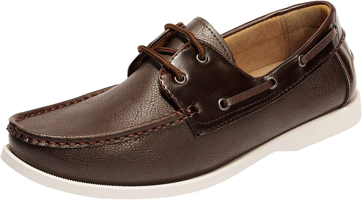Mens New Lace Up Casual Boat Deck Moccasin Designer Loafers Driving Shoes Size
